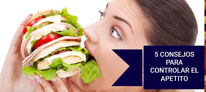 5 consejos para controlar el apetito