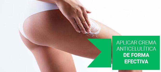 Aplicar crema anticelulítica de forma efectiva