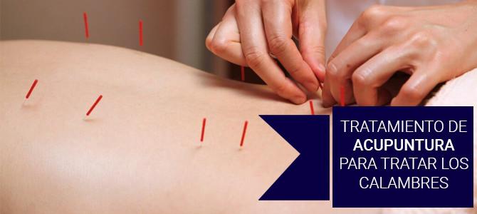 Tratamiento de acupuntura para tratar los calambres musculares