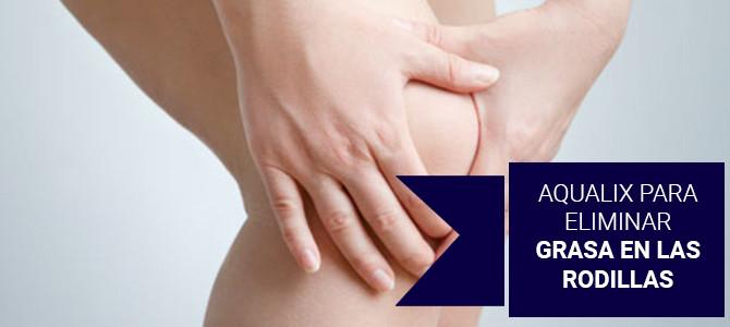Tratamiento de Aqualix para eliminar grasa localizada en las rodillas